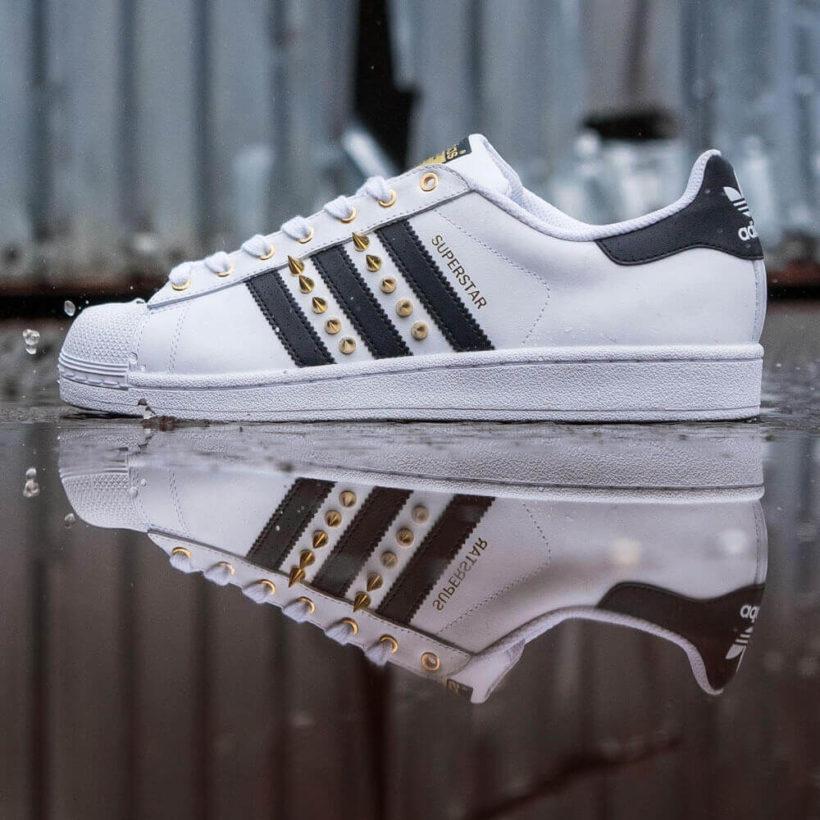 Adidas superstar originals custom dr shoes goldspikes